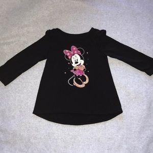 18 Months Girl's Minnie Mouse Long Sleeve Shirt